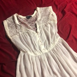 Sheer white lace dress